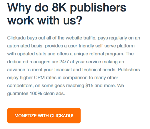 clickadu publisher